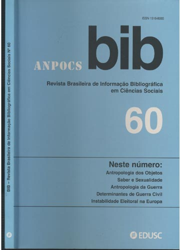 BIB - Revista Brasileira de Informação Bibliográfica em Ciências Sociais - Nº.60