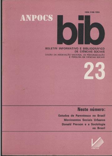 BIB - Boletim Informativo e Bibliográfico de Ciências Sociais - Nº.23
