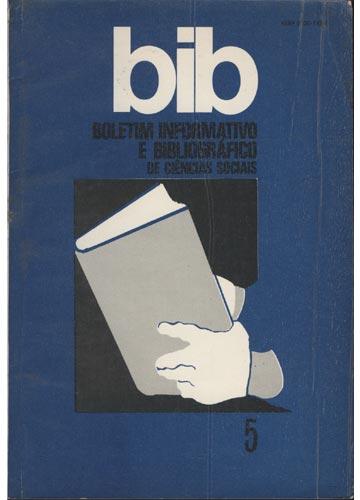 BIB - Boletim Informativo e Bibliográfico de Ciências Sociais - Nº. 5