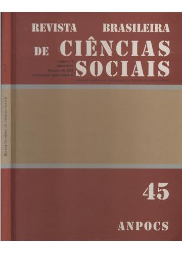 Revista Brasileira de Ciências Sociais - Número 45 - Volume 16 - Fevereiro de 2001