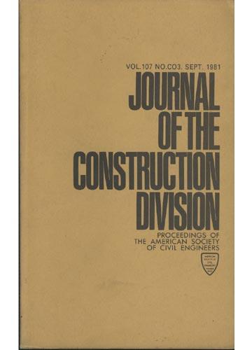 Asce Construction Division - Sept. 1981 - Vol. 107 - No.Co3.