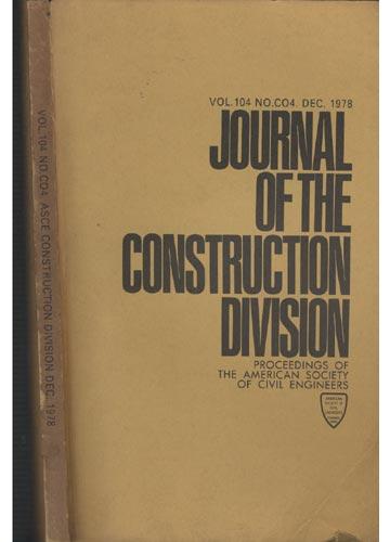 Asce Construction Division - Dec. 1978 - Vol. 104 - No.Co4.