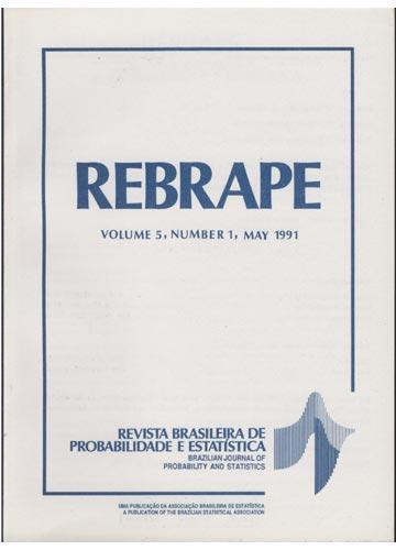 REBRAPE - Volume 5 - Número 1 - 1991