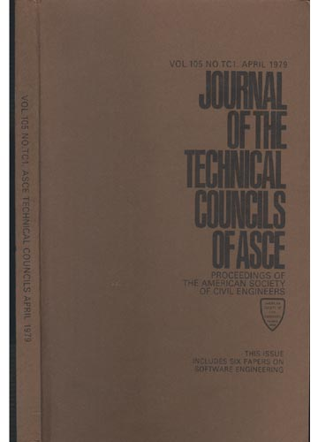 Asce Technical Councils - April 1979 - Vol.105 - No.Tc1.