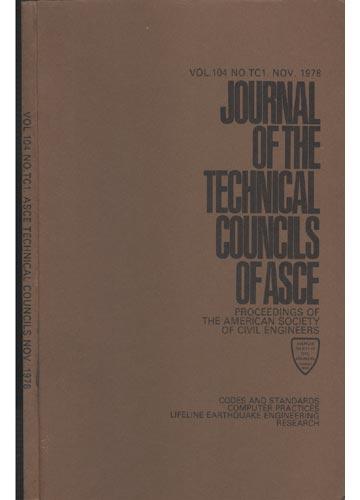 Asce Technical Councils - Nov. 1978 - Vol.104 - No.Tc1.