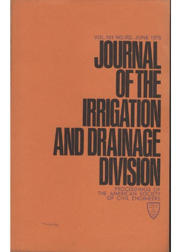 Asce Irrigation and Drainage Division - June 1975 - Vol. 101 - No.IR2