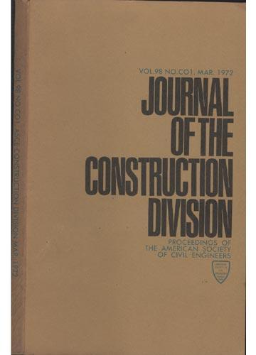 Asce Construction Division - Mar. 1972 - Vol.98 - No.Co1.