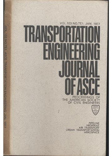 Asce Transportation Engineering - Jan. 1977 - Vol. 103 - No.Te1