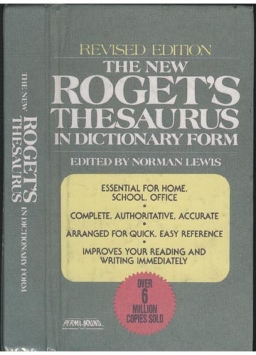 The New Roget's Treasurus in Dictionary Form