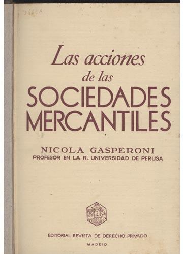 Las Acciones de las Sociedades Mercantiles