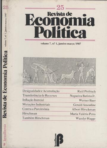 Revista de Economia Politica - Vol.7 - Nº1 - Janeiro/Março 1987