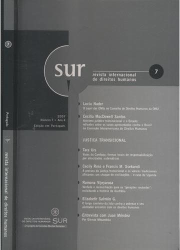 Sur - Revista Internacional de Direitos Humanos - Numero 7 - Ano 4