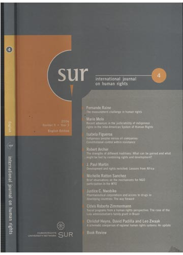Sur - International Journal on Human Rights - Number 4 - Year 3