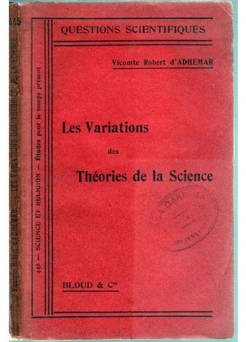 Les Variations des Théories de la Science - Contém Ex-Libris de Estevam de Almeida