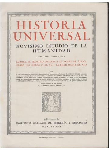 Historia Universal - 3 Volumes