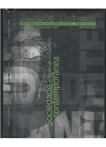 Revista Unicusul - Ano 8 Nº. 10 - Dezembro 2003