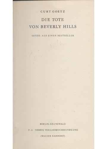 Die Tote von Berverly Hills