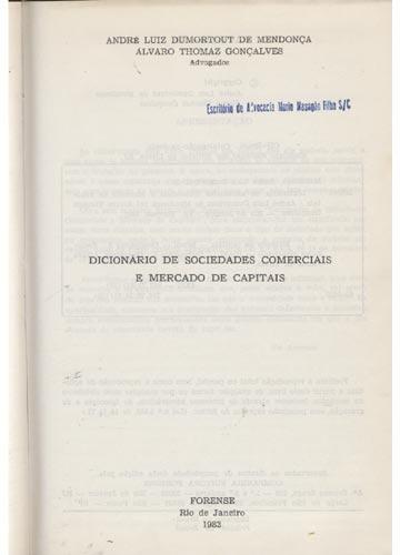 Dicionário de Sociedades Comerciais e Mercado de Capitais