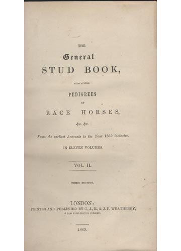 General Stud Book - Race Horses - Volume 2