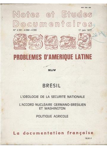 Problemes d'Amérique Latine - Volume XLIV