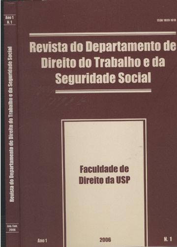Revista do Departamento de Direito do Trabalho e da Seguridade Social - Ano 1 - Nº.1