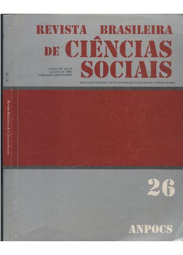 Revista Brasileira de Ciências Sociais - Número 26 - Ano 9