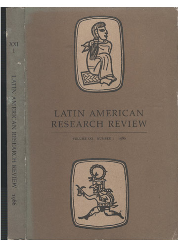 Latin American Research Review - Volume XXI - Number 1 - 1986