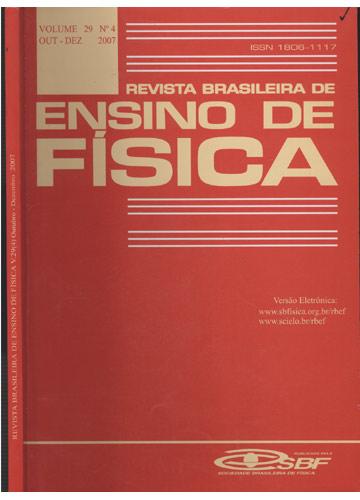 Revista Brasileira de Ensino de Física - Volume 29 - Nº 4 - Outubro-Dezembro - 2007