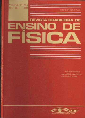Revista Brasileira de Ensino de Física - Volume 25 - Nº 3 - Julho-Setembro - 2003