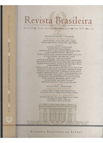 Revista Brasileira - Fase VII - Jullho-Agosto-Setembro 2008 - Ano XIV - Nº. 56