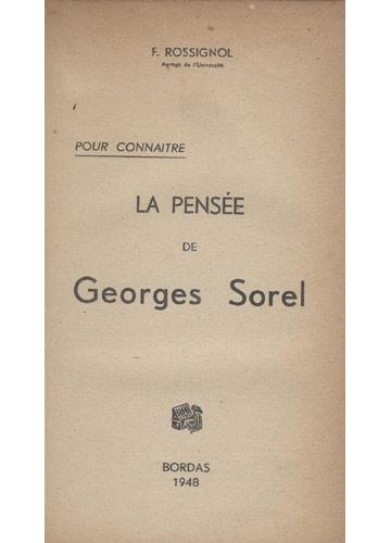 La Pensée de G. Sorel