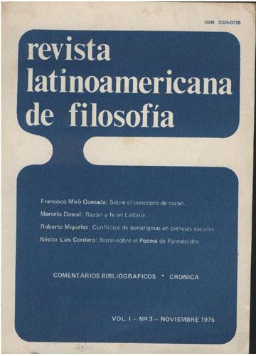 Revista Latinoamericana de Filosofía - Volume 1 - Nº.1
