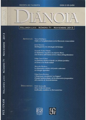 Diánoia - Volumen LVIII - Número 71 - Noviembre 2013