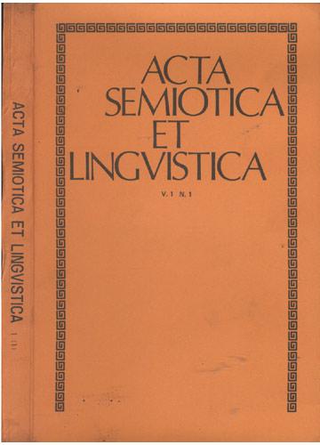 Acta Semiotica et Lingvistica - Vol 1 - Nº 1
