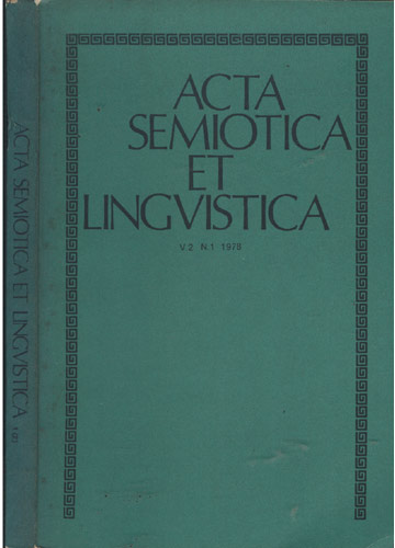 Acta Semiotica et Lingvistica - Vol 2 - Nº 1