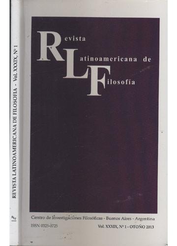 Revista Latinoamericana de Filosofía - Volume XXXIX - Nº.1