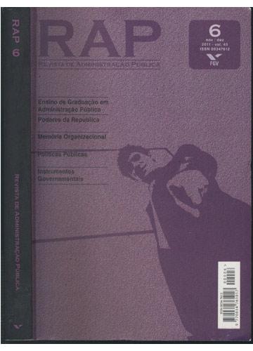 RAP - Nº.6 - Revista de Administração Pública