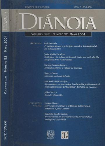 Diánoia - Volumen XLIX - Nº.52 - Mayo 2004