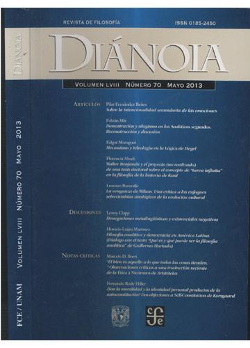 Diánoia - Volumen LVIII - Número 70 - Mayo 2013