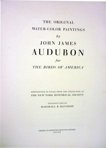 The Original Water-Color Paintings - Volume 1 - The Birds of America