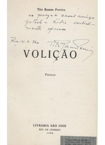 Volição - com dedicatória do autor