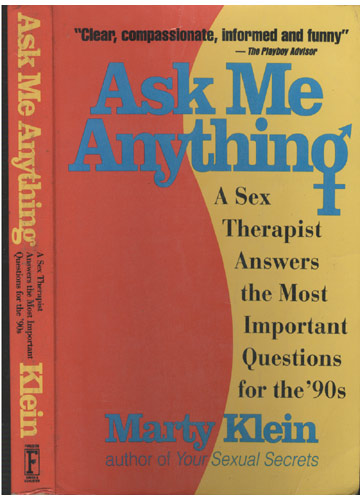 Ask Me Anything - A Sex Theraphist Answers the Most Important Questions for the 90s