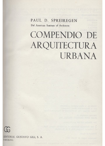 Arquitectura - Compendio de Arquitectura Urbana