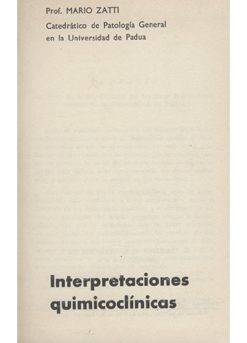 Interpretaciones Quimicoclínicas