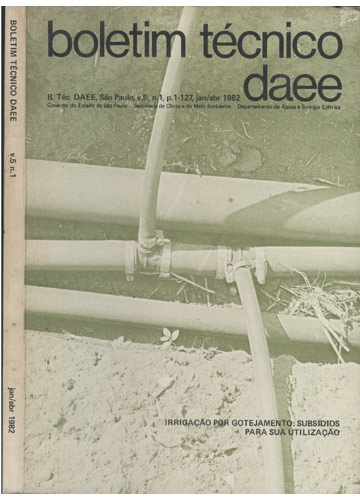 Boletim Técnico Daee - Volume 5 - Nº 1 - Janeiro/Abril 1982