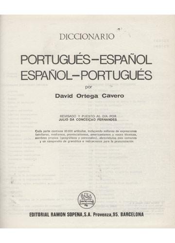 Portugués-Español - Espanhol-Português - Diccionario-Dicionario