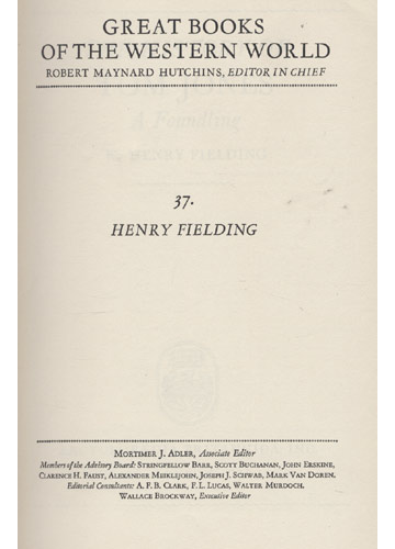 Fielding - Britannica Great Books - Volume 37 - The History of Tom Jones