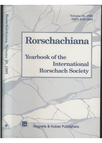 Rorschachiana - Volume 20 - 1995