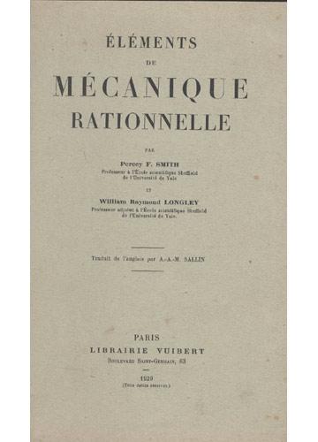 Éléments de Mécanique Rationnelle