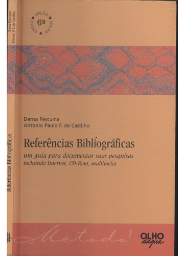 Livro - Referências Bibliográficas - Sebo do Messias